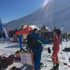 RTVA was interviewing the Spanish skier