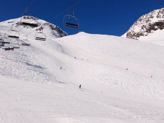 Port Negre chairlift from La Pala red slope