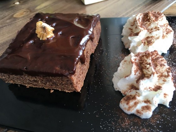 A yummy brownie to recover energy after a few runs