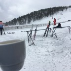 Can't beat a warm cup of coffee in the snow