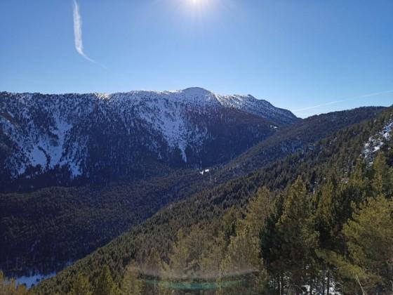 Beautiful mountain view from Pla de la Cot