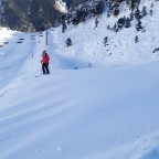Ski touring up Arinsal