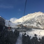Heading up on the Arinsal gondola
