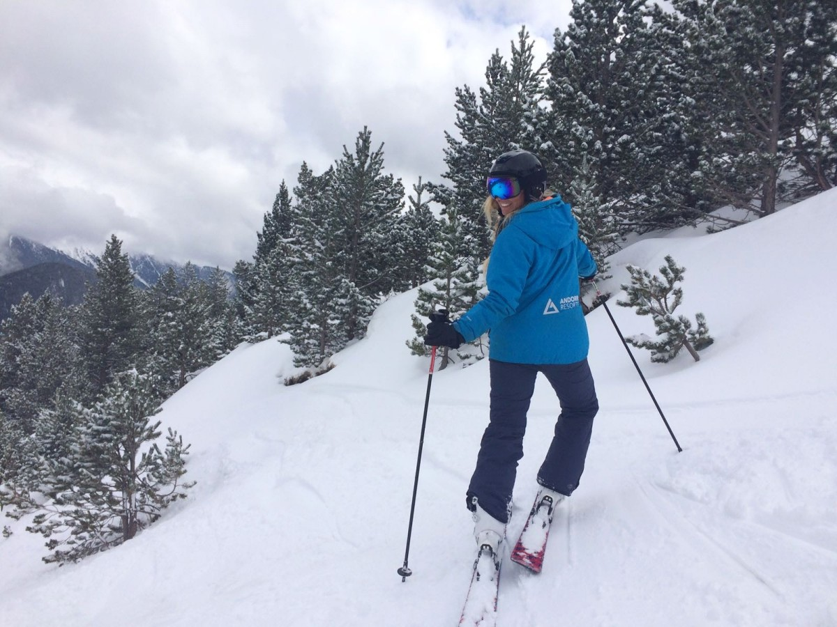Our team in Arinsal had so much fun enjoying the powder among the trees