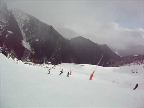 Arinsal Andorra Video Of Slopes - Jan 2011