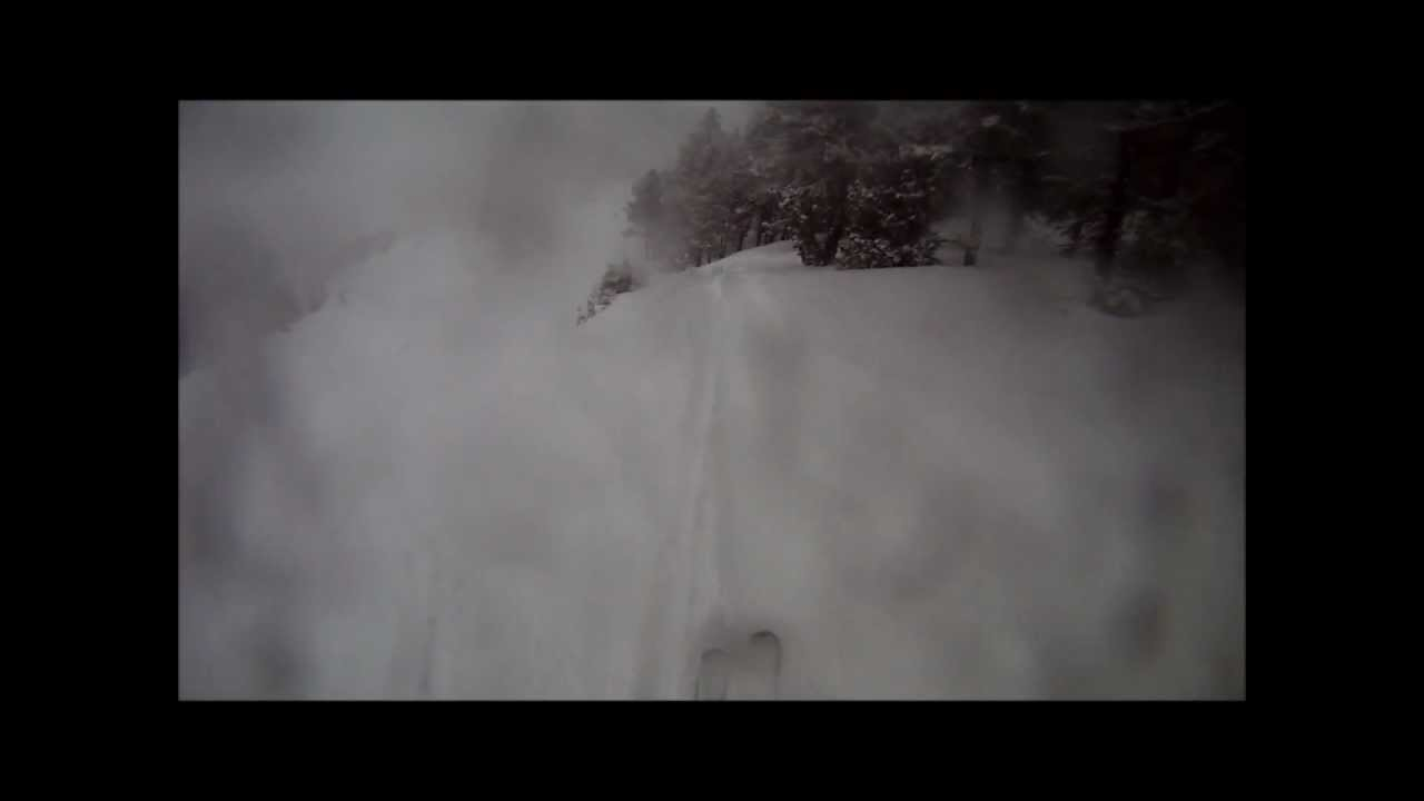 A very snowy day skiing in Pal and Arinsal, Vallnord ski area in Andorra 19th January 2013