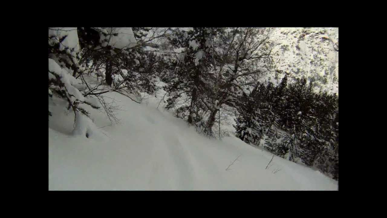 Off Piste powder day in Arcalis, Vallnord in Andorra. 22nd January 2013