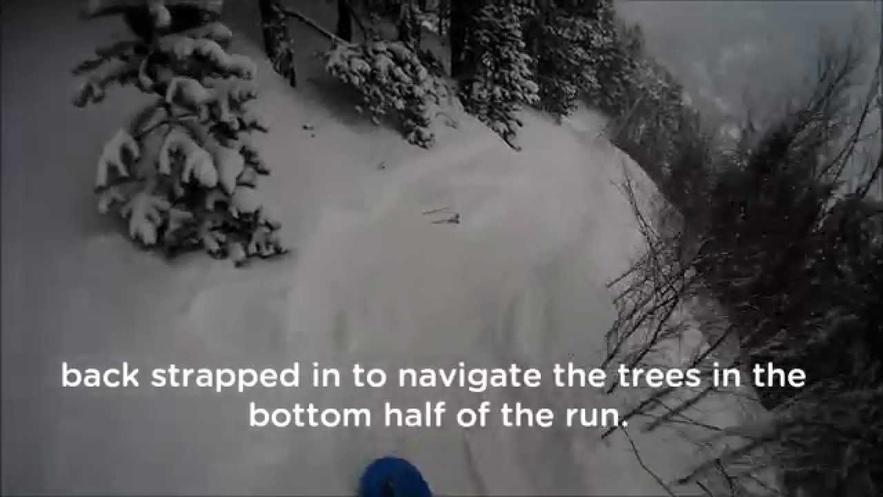 Off piste powder, trees and rivers in Arinsal 04/03/2014